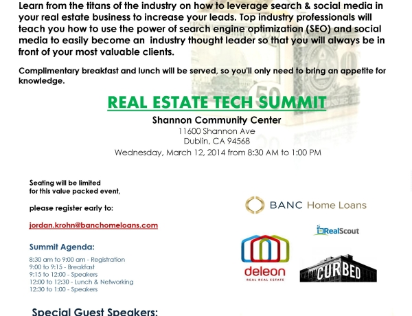 Learn Real Estate Online Lead Generation – plus FREE Breakfast & Lunch